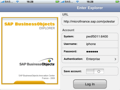 iPhone with SAP BusinessObjects Explorer | Bayforce | Certified ...