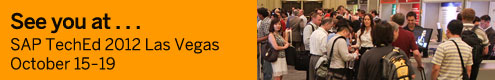 See you at SAP Teched 2012 Las Vegas - October 15-19