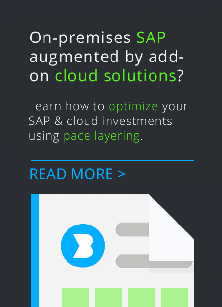 Many organizations are moving to a hybrid SAP environment — a core SAP solution (on-premises) augmented by specialist add-on cloud solutions. Learn how to optimize your SAP investment using pace layering in this white paper.